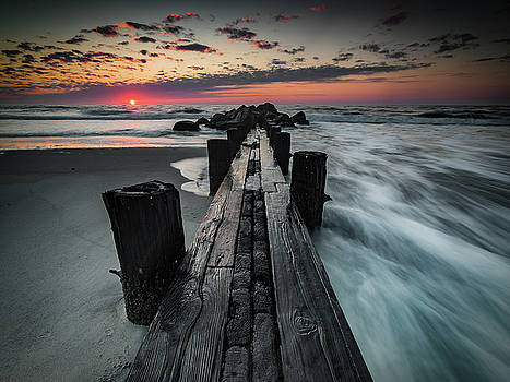Folly Beach Tale of Two Sides by Donnie Whitaker
