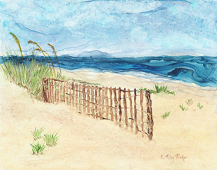 Folly Field Fence by Kathryn Riley Parker