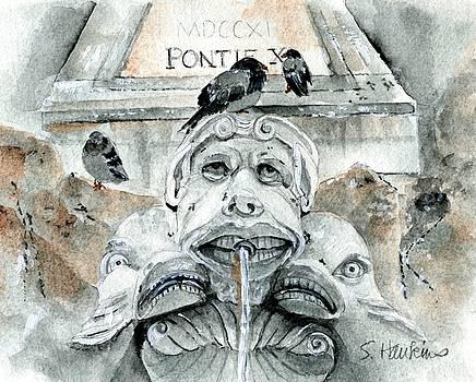 Fontana del Pantheon by Sheryl Heatherly Hawkins