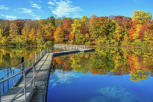 Footbridge Across Lake by Andrew Kazmierski