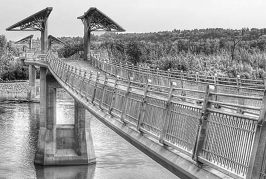 Footbridge at Terwillegar Park by Jim Sauchyn
