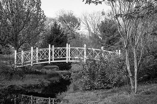 Footbridge in Black and White by Angie Tirado