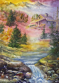 Foothills Cabin by Ann Arensmeyer