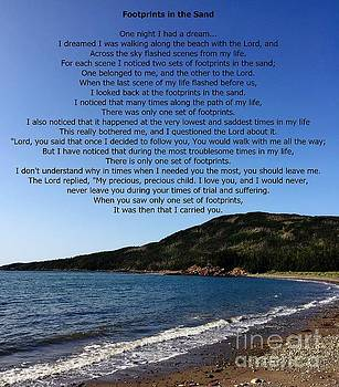 Footprints in the Sand Poem  by Barbara Griffin