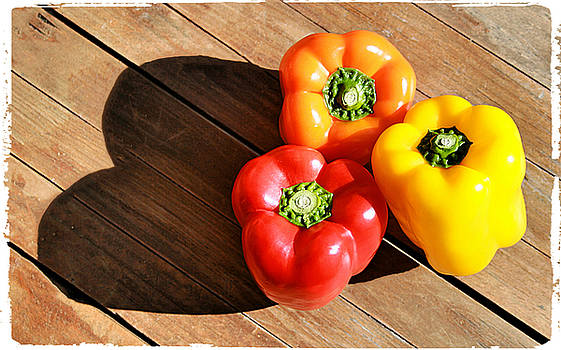 For The Love of Bell Peppers With Border by Kori Creswell