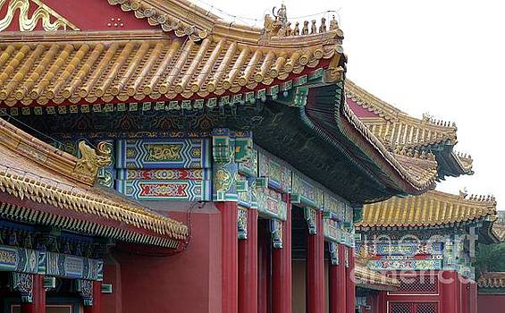 Forbidden City Roof Detail by Barbie Corbett-Newmin
