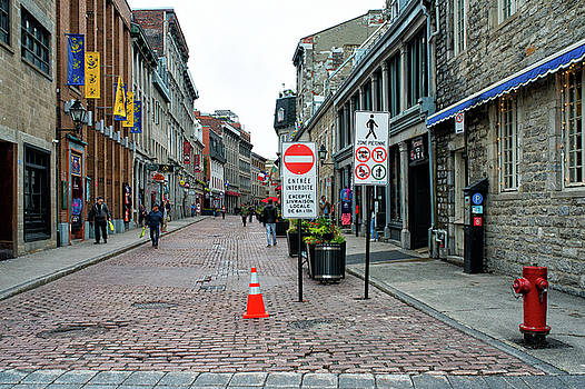 Forbidden Entry Old Montreal by Michael Gallitelli
