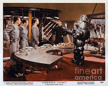 R Muirhead Art - Forbidden Planet Amazing Poster inside with scientist