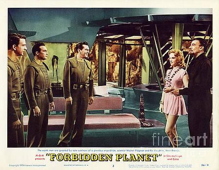 R Muirhead Art - Forbidden Planet in CinemaScope retro classic movie poster indoors