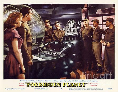 R Muirhead Art - Forbidden Planet in CinemaScope retro classic movie poster landscape