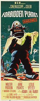 R Muirhead Art - Forbidden Planet in CinemaScope retro classic movie poster portraite