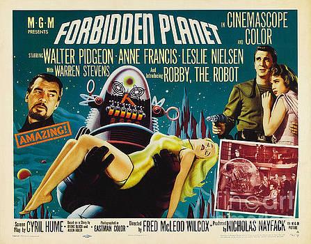 R Muirhead Art - Forbidden Planet in CinemaScope retro classic movie poster