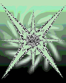 Forceful Movement in Solarized Greens by Cheri Doyle