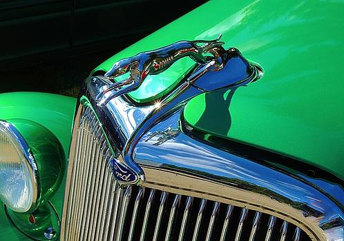 Ford Greyhound Hood Ornament by Lisa Gilliam
