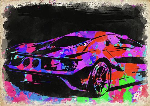 Ricky Barnard - Ford GT Watercolor II