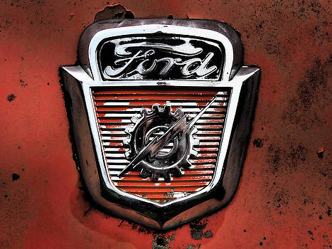 Ford Logo in Red by Kevin Felts