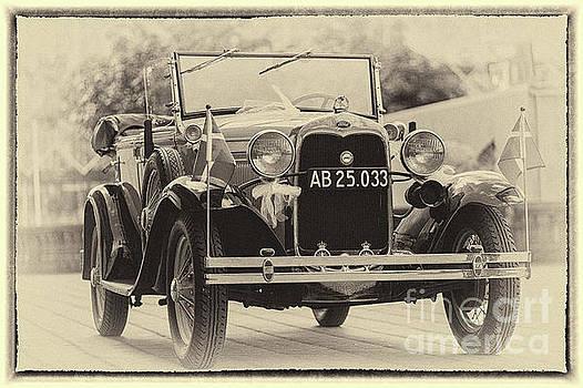 Vintage Ford, sepia framed by Vyacheslav Isaev