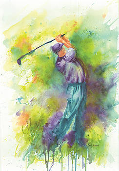 Fore golfer in full swing by Barb Capeletti