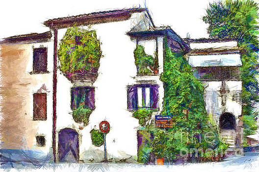 Foreshortening of house covered with climbing plants by Giuseppe Cocco