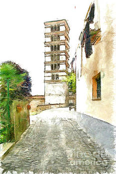 Foreshortening with bell Tower by Giuseppe Cocco