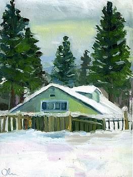 Forest Cabin by Lelia Sorokina