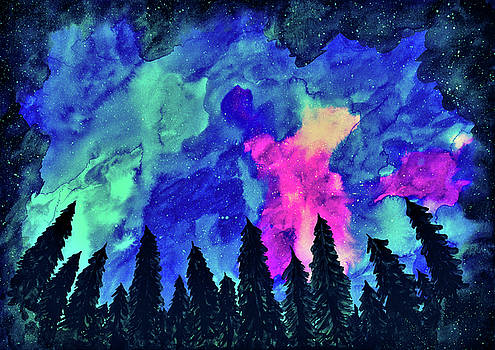 Forest Galaxy by Petros Illustrations