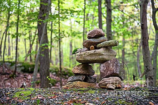 Forest Inukshuk by Nina Stavlund
