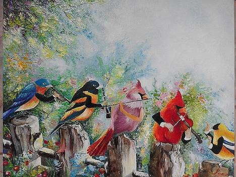 ''Forest orchestra'' by Asia Dzhibirova