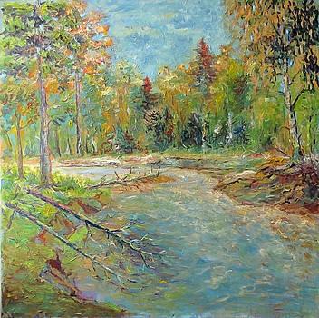 Forest River by Liudvikas Daugirdas