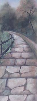 Forest Stairway down by Suzn Smith