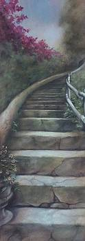 Forest Stairway Up  by Suzn Smith