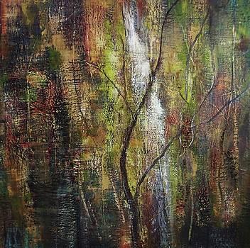 Forest waterfall by Judy Osiowy