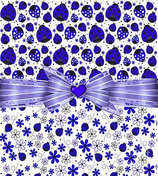 Forever Blue Ladybugs by Debra Miller