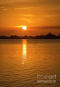 Forever Orange Sunset Lagoon by Edie Ann Mendenhall