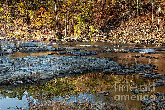 Fork River Reflection in Fall by Iris Greenwell