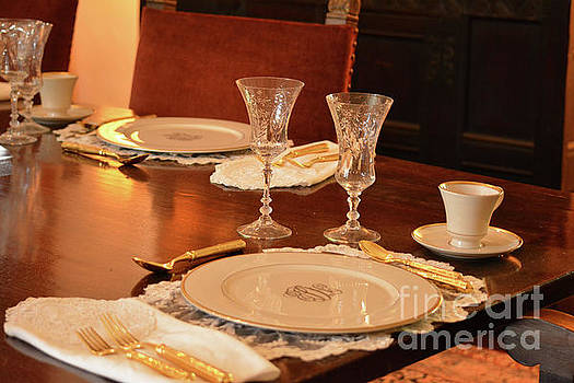 Formal Dining At DeGolyer House by Ruth Housley