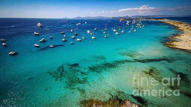 Formentera Beach with Boats by Owen Hunte