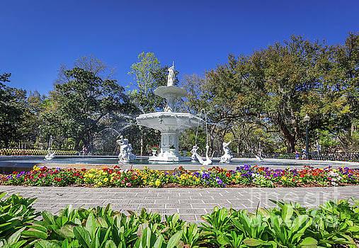 Forsyth Park Fountain  by Joan McCool