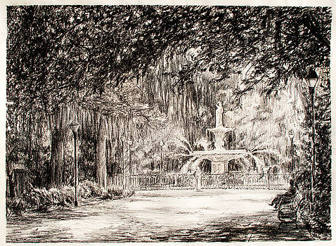 Forsyth Park in the afternoon by Ming Ken Tan