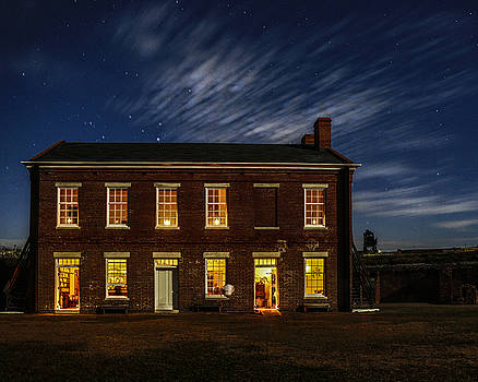 Paula Porterfield-Izzo - Fort Clinch State Park at Night