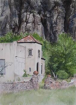 Fort Davis Scene by Karen Boudreaux