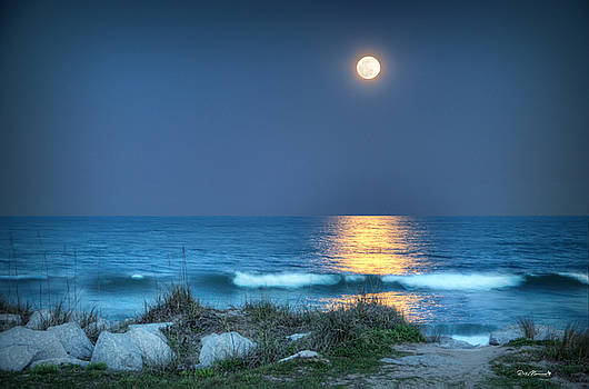 Fort Fisher Moonbeam by Phil Mancuso