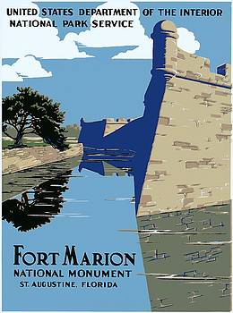Fort Marion National Monument, St. Augustine, Florida, NPS poster, ca. 1938 by Vintage Printery