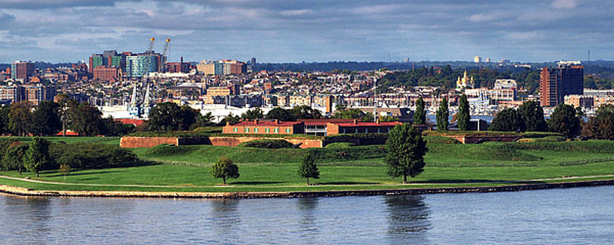 Fort McHenry Baltimore Panorama by Bill Swartwout Fine Art Photography