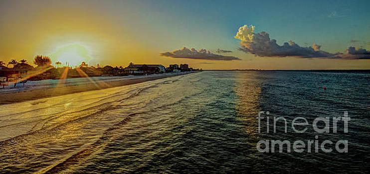 Fort Myers Beach Sunrise by David Lane