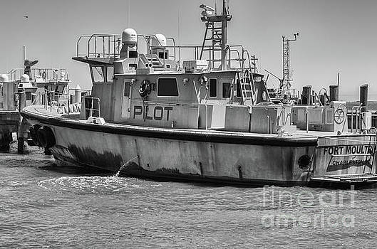 Fort Moultrie Pilot Boat Monochrome by Dale Powell