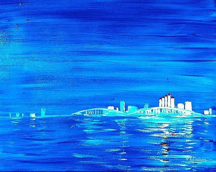 Fort Myers by Night by Vic Delnore