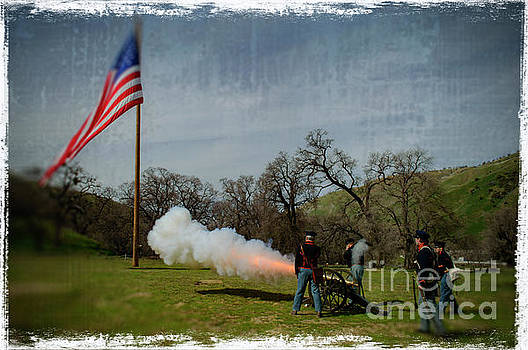 Fort Tejon Canon Salute by Scott Parker