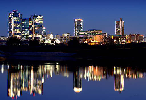 Fort Worth Reflection 41916 by Rospotte Photography