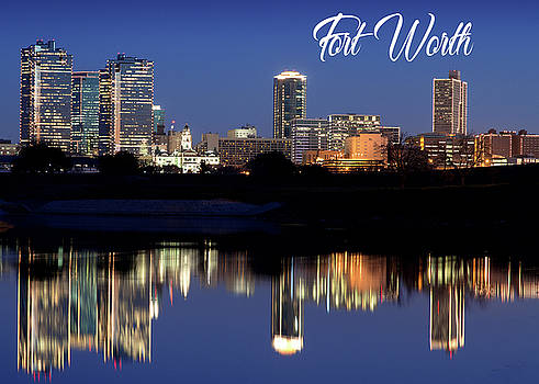 Fort Worth Skyline Greeting 5x7 092317 by Rospotte Photography